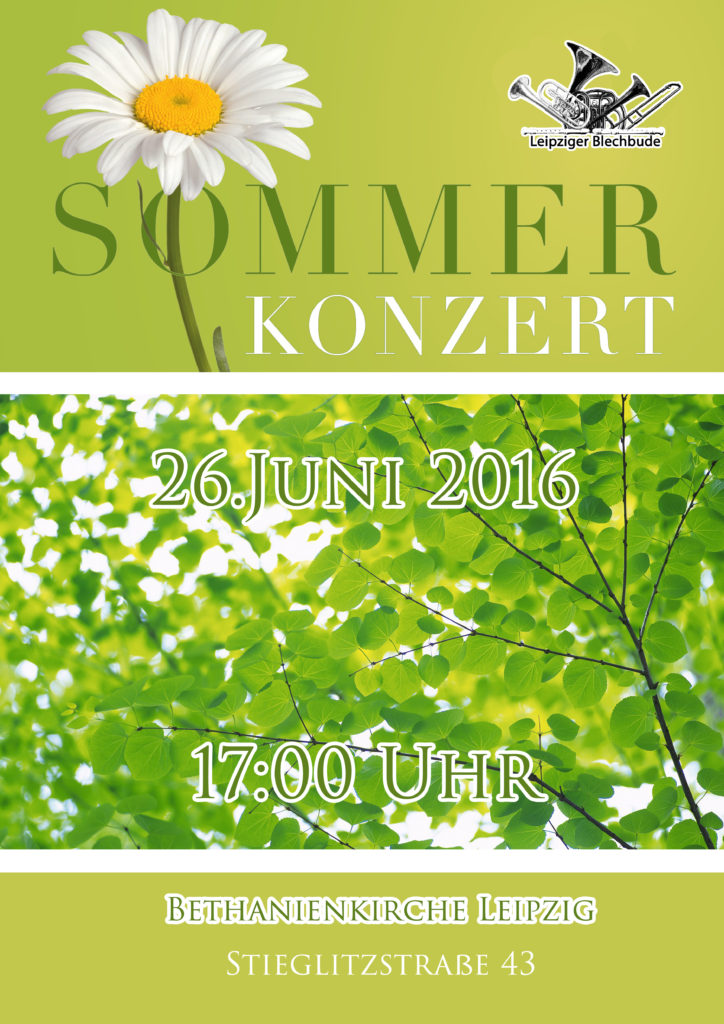 Plakat A3 Sommerkonzert 2016